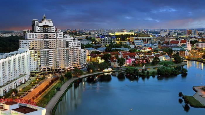 Вид на Минск из отеля
