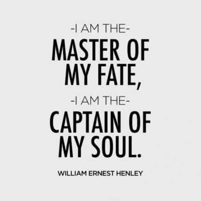 «Я хозяин своей судьбы, я капитан своей души»